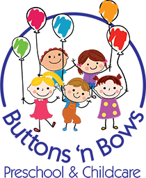 Buttons 'n Bows Preschool 'n Kindergarten Logo